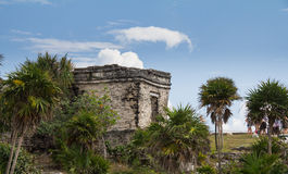Mayan ruins at Tulum Mexico. Near Couzimel Royalty Free Stock Image