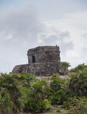 Mayan ruins at Tulum Mexico. Near Couzimel Royalty Free Stock Photography