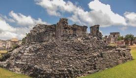 Mayan ruins at Tulum Mexico. Near Couzimel Stock Photography