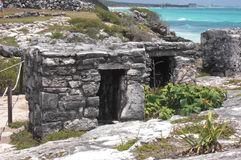 Mayan ruins at Tulum Mexico. Near Couzimel Stock Photo