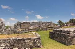 Mayan ruins at Tulum Mexico. Near Couzimel Royalty Free Stock Images