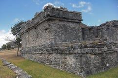 Mayan ruins at Tulum Mexico. Near Cancun Stock Images