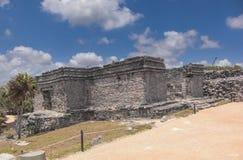 Mayan ruins at Tulum Mexico. Near Cancun Stock Photography
