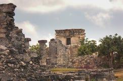 Mayan ruins at Tulum Mexico. Near Cancun Stock Photos