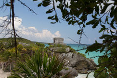 Mayan ruins at Tulum Mexico. Near Cancun Royalty Free Stock Photos