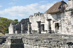 Mayan Ruins at Tulum in Mexico Royalty Free Stock Photography