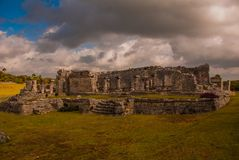 The Mayan ruins in Tulum, Mexico, Riviera Maya, Yucatan. Tulum was one of the last cities built and inhabited by the Maya. The Mayan ruins in Tulum, Mexico. The Stock Photography