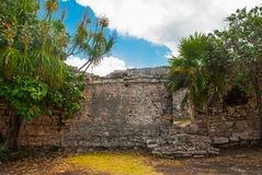 The Mayan ruins in Tulum, Mexico, Yucatan. Tulum was one of the last cities built and inhabited by the Maya.  stock photography
