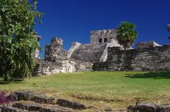 Tulum. Mayan Ruins in Tulum, Quintana Roo, Mexico Royalty Free Stock Image