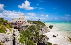 Mayan Ruins of Tulum, Yucatan, Mexico. royalty free stock photo