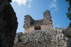 Mayan ruins in Uxmal Yucatan Royalty Free Stock Image