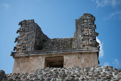 Mayan ruins in Uxmal Yucatan Royalty Free Stock Photography