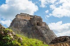 Mayan ruins in Uxmal Yucatan Stock Image