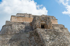 Mayan ruins in Uxmal Yucatan Royalty Free Stock Photos