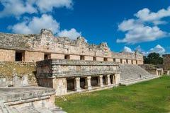 Mayan ruins in Uxmal Yucatan Royalty Free Stock Images