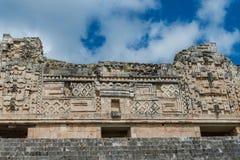 Mayan ruins in Uxmal Yucatan Royalty Free Stock Photo