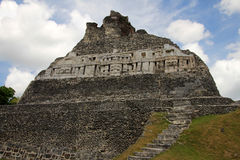 Mayan ruins Xunantunich, San Ignacio, Belize stock images