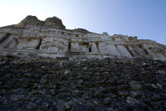 Mayan ruins at Xunatunich, Belize. Mayan ruins in the country of Belize, at Xunatunich Stock Photo