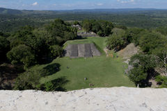 Mayan ruins at Xunatunich, Belize. Mayan ruins in the country of Belize, at Xunatunich. Taken from atop one of the temple ruins Stock Photo
