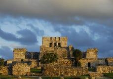Mayan ruïnes, Tulum Royalty-vrije Stock Afbeelding