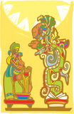 Mayan Sacrifice and Vision Serpent Royalty Free Stock Photography