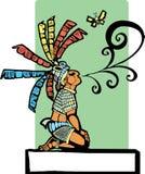 mayan sagoberättare Arkivbild
