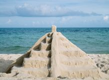 Mayan sand pyramid Stock Photography