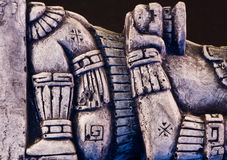 Mayan sculpture Stock Images