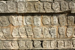 Mayan sculpture of Chichen Itza, Yucatan, Mexico Royalty Free Stock Photo