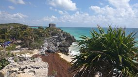 Mayan seashore Royalty Free Stock Photography