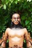 Mayan Shaman i den Xcaret showen i Mexico Royaltyfria Bilder