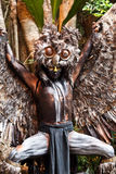 Mayan Shaman in the Xcaret Show in Mexico Royalty Free Stock Photography
