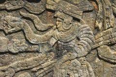 Mayan skulptur Arkivbild