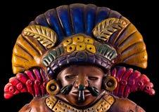 Mayan skulptur Arkivfoton