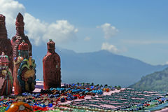 Mayan souvenirs on sale. Lake Atitlan, Guatemala Stock Photography