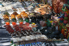 Mayan souvenirs on sale. Lake Atitlan, Guatemala royalty free stock photo