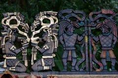 Mayan souvenirs on sale in Chichen Itza Stock Image