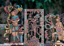 Mayan souvenirs on sale in Chichen Itza Royalty Free Stock Image
