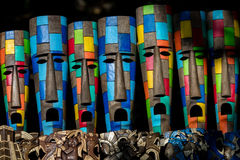Mayan souvenirs on sale in Chichen Itza Stock Images