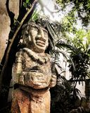 Mayan standbeeld Stock Afbeelding