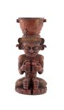 Mayan statue. Mayan or azteca statue isolated on white background Royalty Free Stock Photos