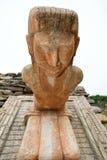 Mayan staty Arkivfoto