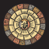Mayan steenkalender royalty-vrije illustratie