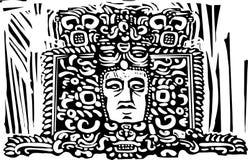 Mayan Stele Head Stock Photos