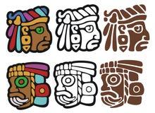 Mayan stijl glyphs vector illustratie