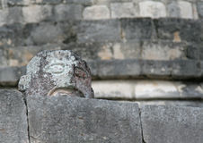Mayan Stone Sculpture Royalty Free Stock Photos