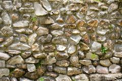 Mayan Stone Wall Royalty Free Stock Images