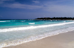 mayan strand arkivbild