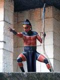 Mayan strijder, Yucatan - Mexico stock foto's