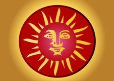Mayan sun Stock Images